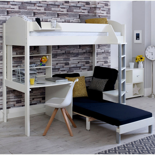 Noah C High Sleeper with Sofa Bed, Desk & Shelf