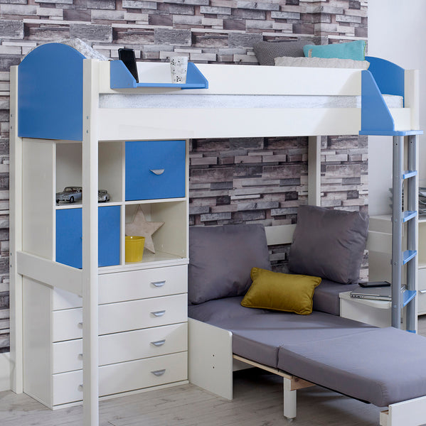 Noah F 6 High Sleeper with Sofa Bed, Drawers & Storage Unit