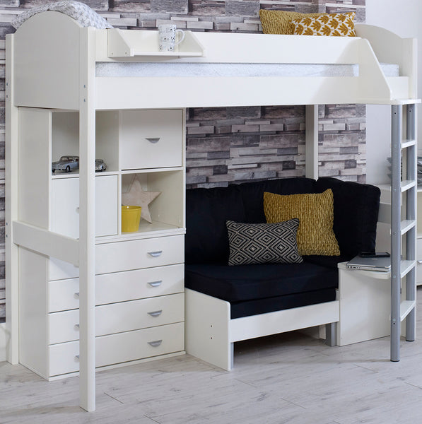 Stompa Casa F 6 High Sleeper with Sofa Bed, Drawers & Storage Unit