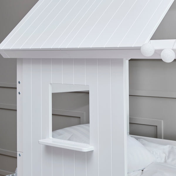 Flexa Nordic Wooden Bedroom Playhouse Bed