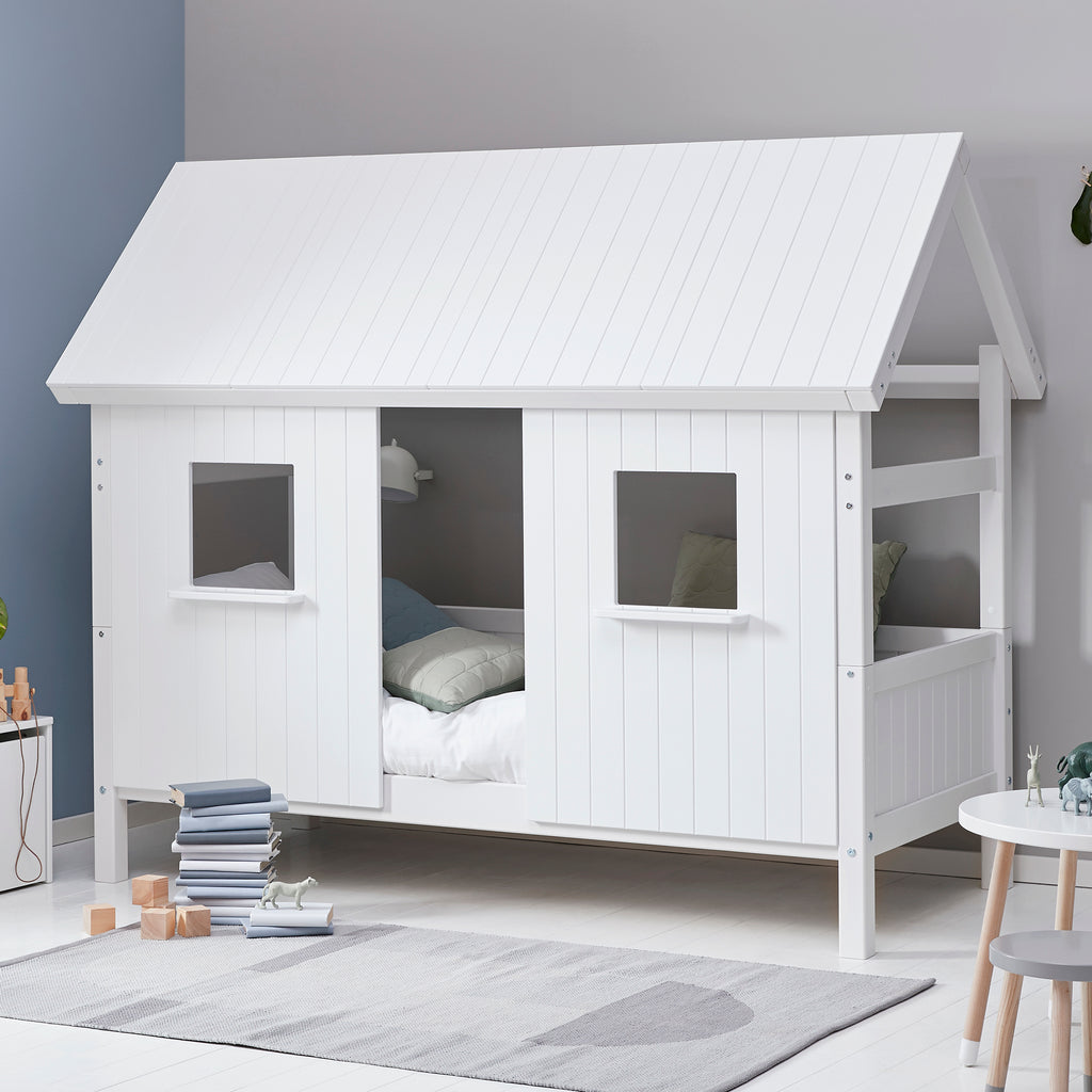 Flexa Nordic Wooden Bedroom Den Playhouse Bed