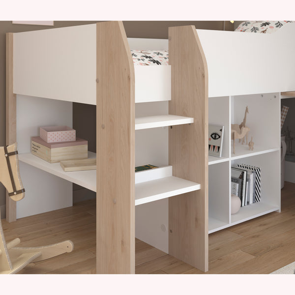 Parisot Finland Midsleeper Cabin Bed with Desk & Storage