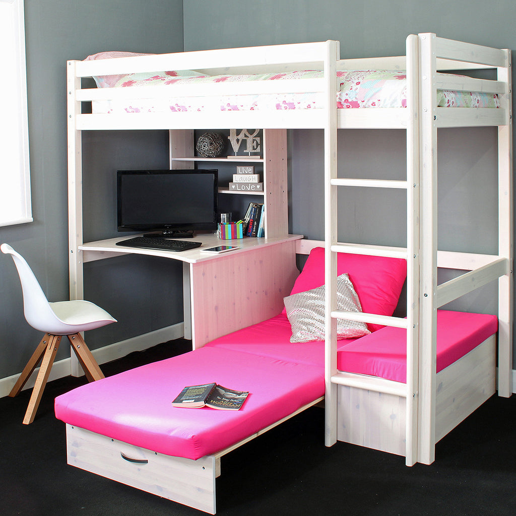 Thuka HIT High Sleeper Bed with Sofa Bed & Desk