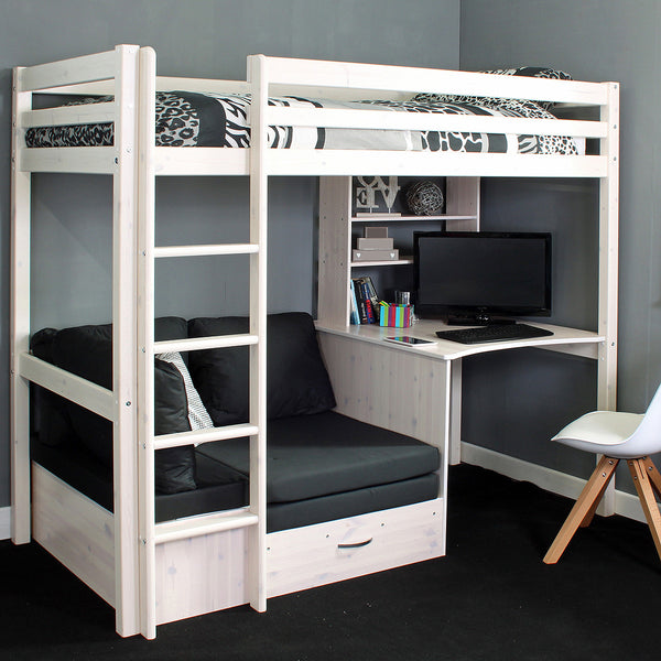 High Sleeper Loft Beds with Sofabed Futon Sofa Desk Storage