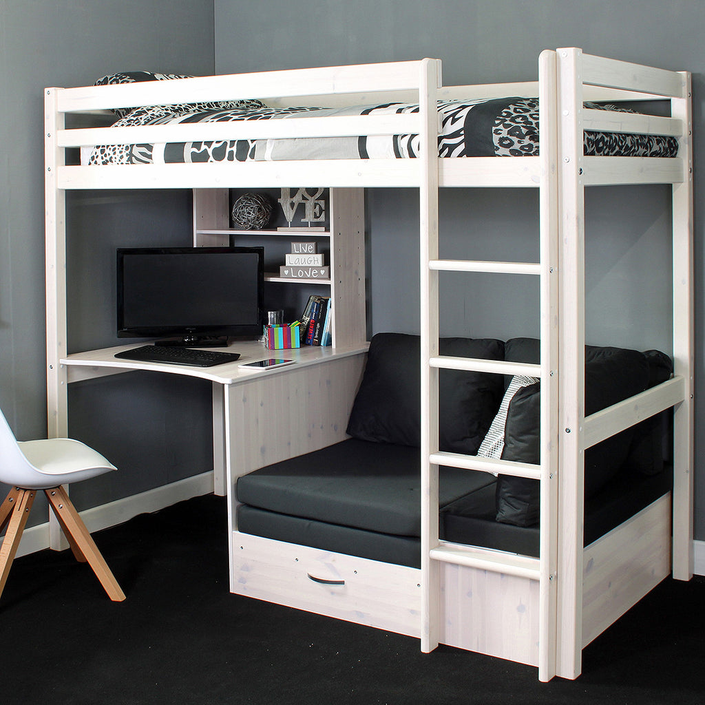 Thuka Hit 8 High Sleeper Bed With Desk Chairbed Family Window