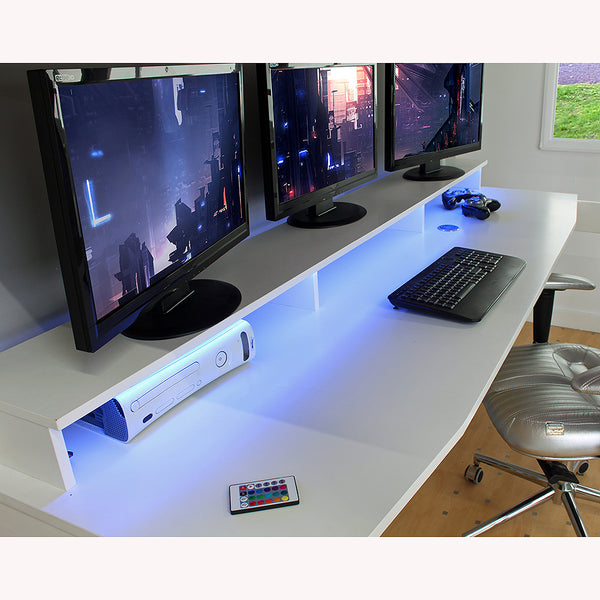 Noah High Sleeper Mega PC Gaming Bed with Built-In Gaming Desk