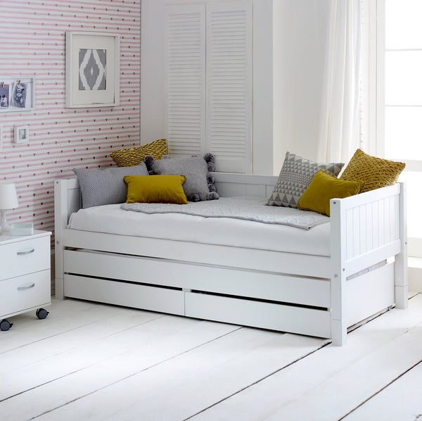 Nordic Day Bed with Trundle Bed/Drawer & Storage
