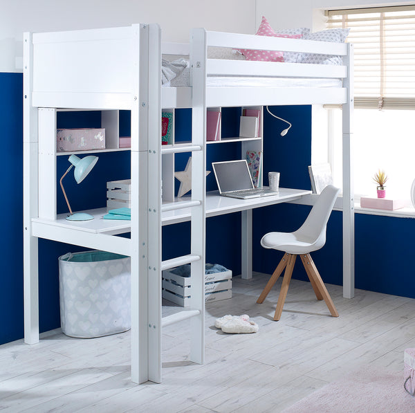 Flexa Nordic Highsleeper Bed with Desk & Shelving