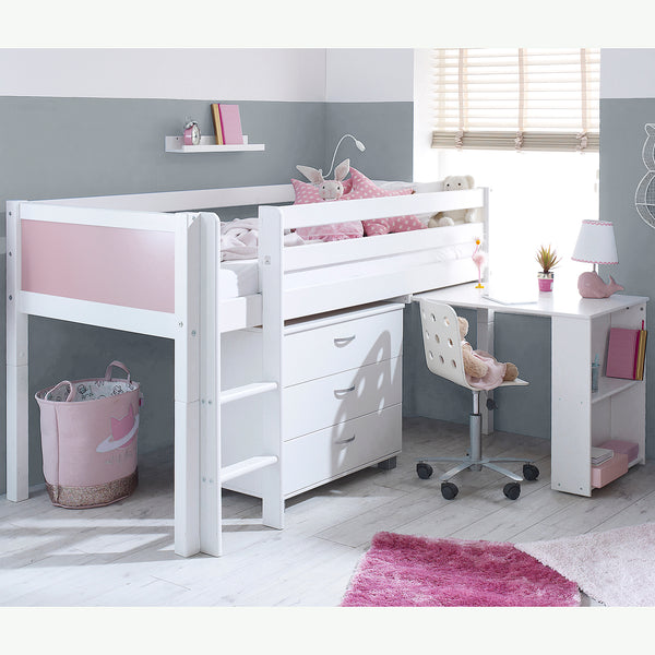 Flexa Nordic Cabin Bed with Desk & Drawers