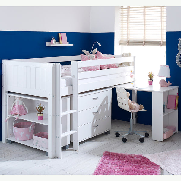 Flexa Nordic Cabin Bed with Desk, Drawers & Bookcase