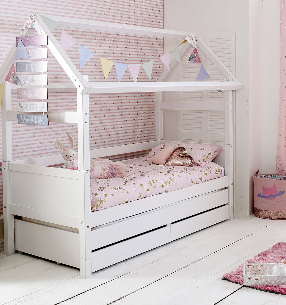 Flexa Nordic Playhouse Bed with Drawers & Trundle