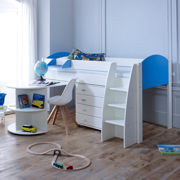 Eli D Cabin Bed with Pull Out Desk & Drawers
