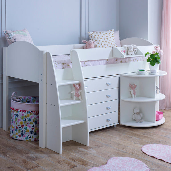 Stompa Rondo D Cabin Bed with Pull Out Desk & Drawers