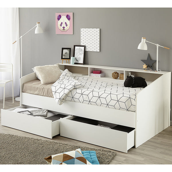 Parisot Sleep Day Bed with Drawers & Shelving