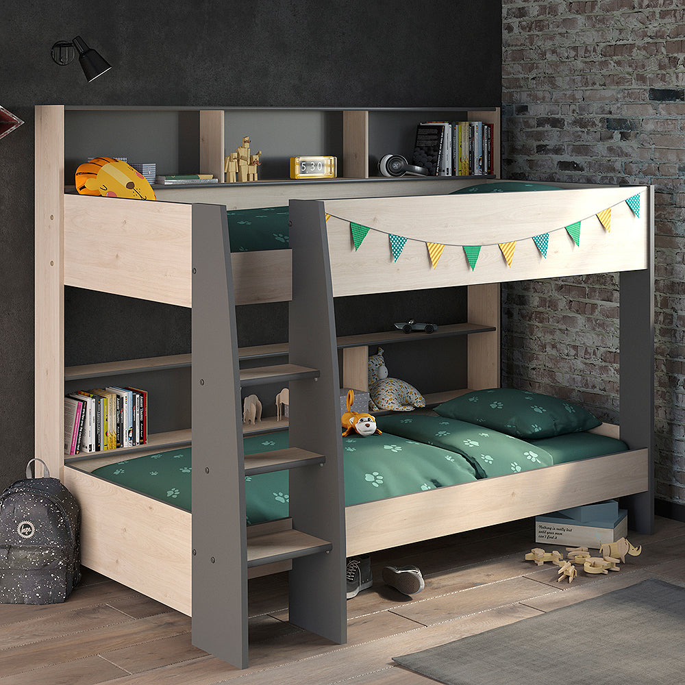 Parisot Tam Tam 5 Oak & Grey Bunk Bed with Optional Drawer