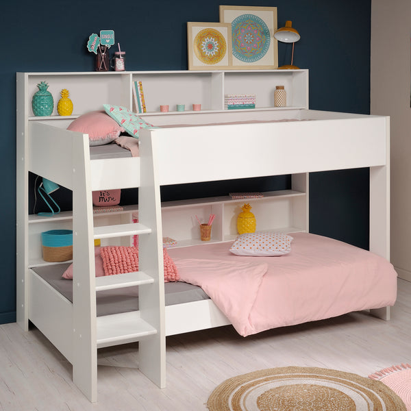 Parisot Tam Tam 4 White Bunk Bed with Optional Drawer