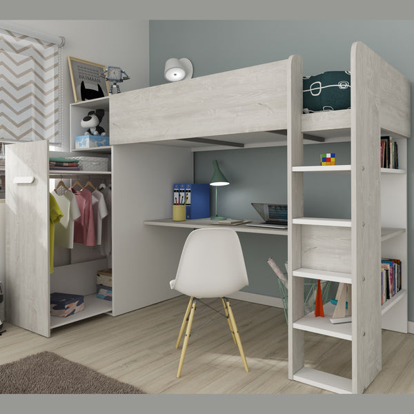Trasman Tarragona High Bed With Desk Amp Trundle Wardrobe