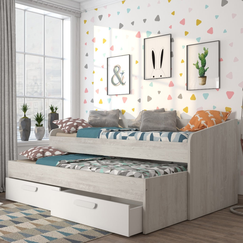 Trasman Day Bed With Trundle Bed Drawer Storage Family Window