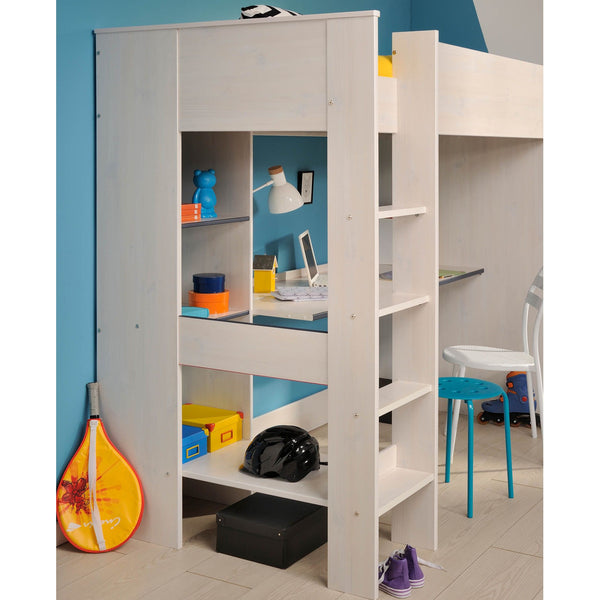 Parisot Smoozy High Bed with Built-in Desk and Shelving - Clearance!