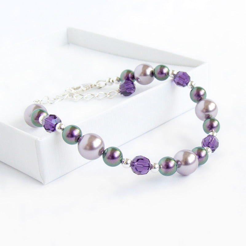 New In - Elegant Swarovski Crystal and Pearl Bracelets