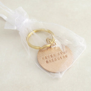 handmade motivational bronze keyring gift with swarovski crystal star 3