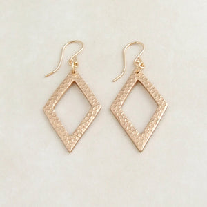 Modern handmade bronze geometric earrings with 14K gold filled earwires 3