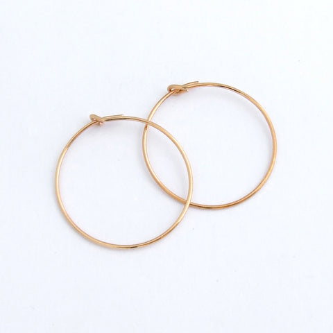 24K Gold plated hoop earwires 1