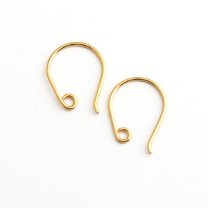 Handmade 24ct gold plated earring findings 2