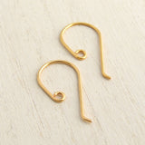 Handmade 24ct gold plated modern earhooks for jewellery making 1