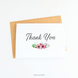 Thank you card with small floral bouquet 2