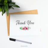 Thank you card with small floral bouquet 1