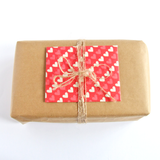heart patterned gift message envelope by Bonschelle