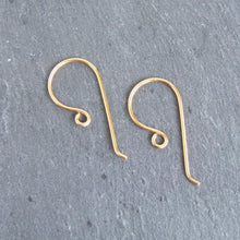 Load image into Gallery viewer, Handmade 24ct gold plated large shepherd crook earwires 1