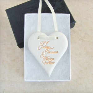 Handmade Clay Sentiment Ornament with gift box