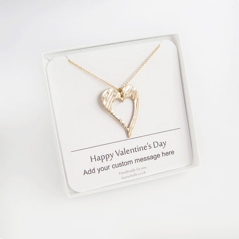 Valentine Heart Jewellery Gift with personalised message 1