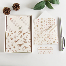 Load image into Gallery viewer, handmade woodland themed boxed stationery gift set