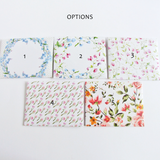 floral gift message envelopes options 1-5