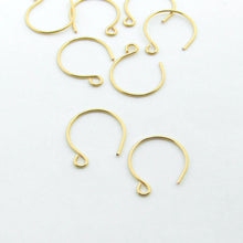 Load image into Gallery viewer, Handmade 24ct gold plated round earring finding earwires UK supplier