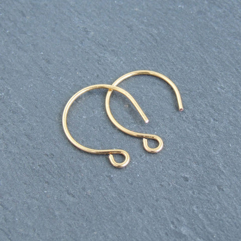 Handmade 24ct gold plated round earring findings unique ear hooks 1