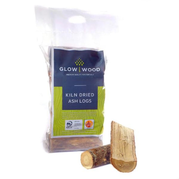 Glow Wood Kiln Dried Ash Logs 8kg
