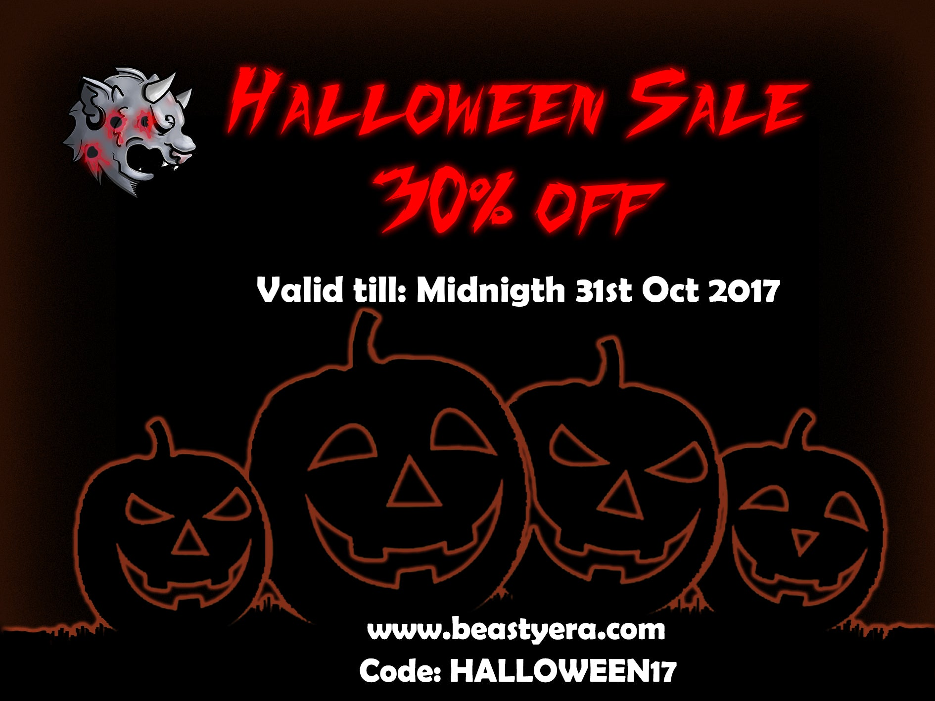 30% Off Sale this Halloween