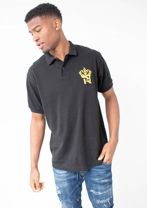 Black Royal Kings Polo T-Shirt-T-Shirt-BeastyEra