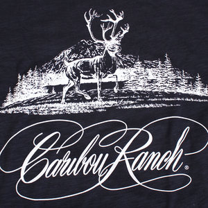 Caribou Ranch Tri Blend Short Sleeve Fashion T - New Navy