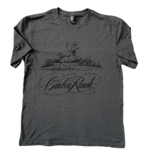 Caribou Ranch Tri Blend Short Sleeve Fashion T - Charcoal