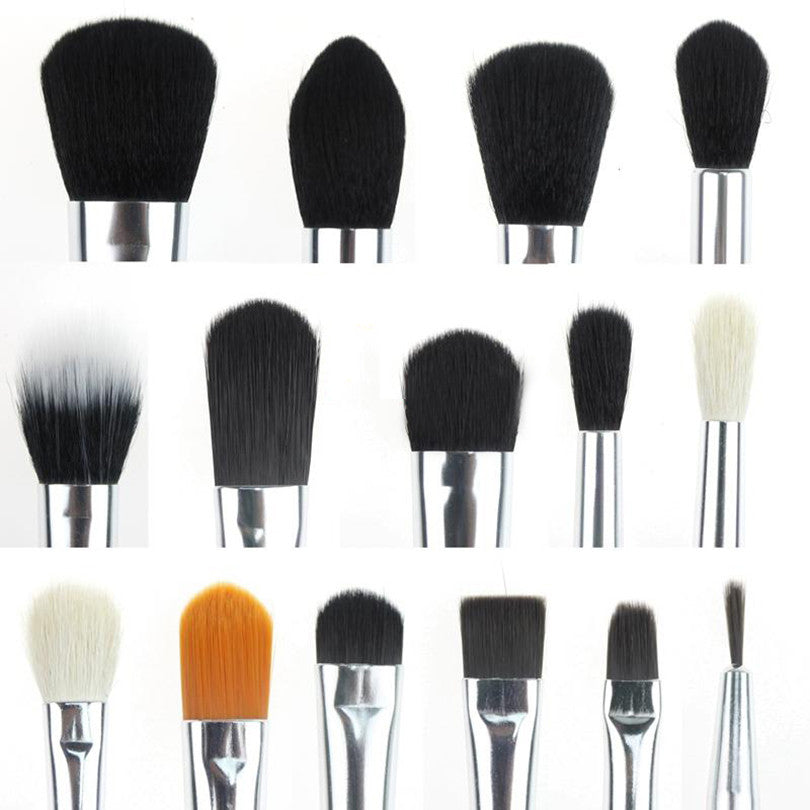 JESSUP - BLACK & SILVER 15 PIECES BRUSH SET