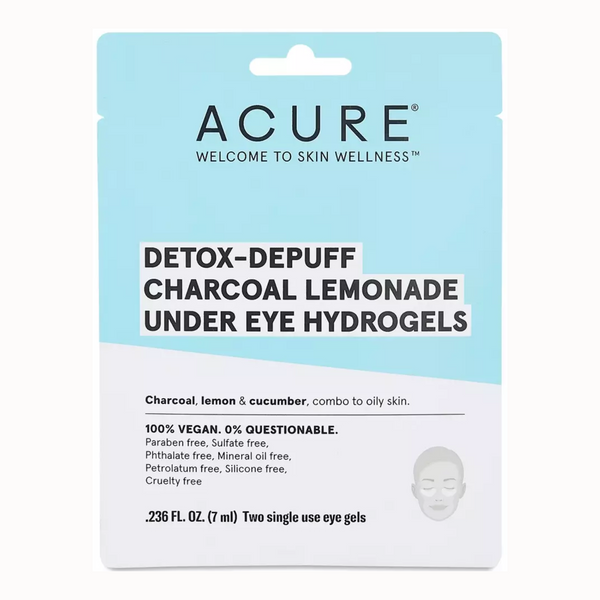 DETOX-DEPUFF CHARCOAL LEMONADE UNDER EYE HYDROGELS