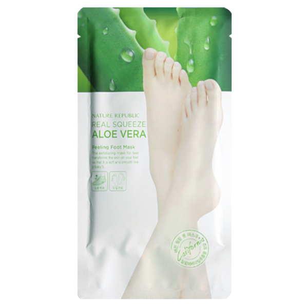 REAL SQUEEZE ALOE VERA PEELING FOOT MASK