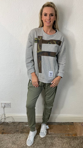 CAMO PATCH SWEAT