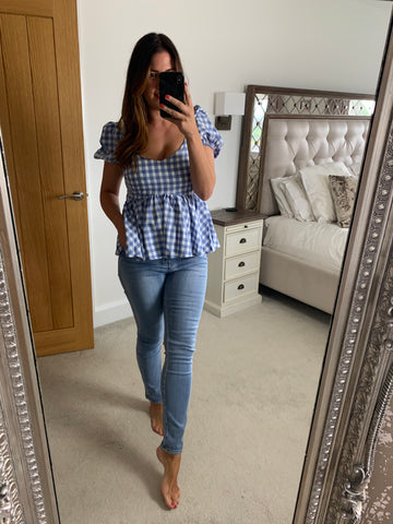 GINGHAM PRAIRIE TOP