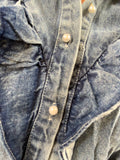 DENIM PEARL BUTTON SHACKET